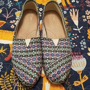 Toms Multicolored Patterned slip-ons